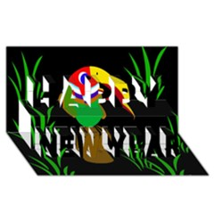 Toucan Happy New Year 3D Greeting Card (8x4)