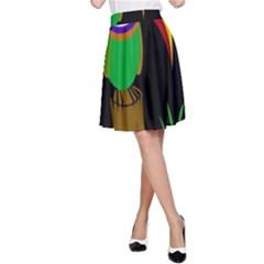 Toucan A-Line Skirt