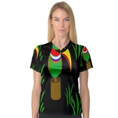Toucan Women s V-Neck Sport Mesh Tee