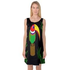 Toucan Sleeveless Satin Nightdress