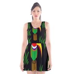 Toucan Scoop Neck Skater Dress