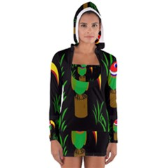 Toucan Women s Long Sleeve Hooded T-shirt