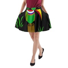 Toucan A Line Pocket Skirt