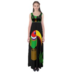 Toucan Empire Waist Maxi Dress
