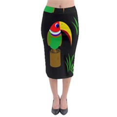 Toucan Midi Pencil Skirt