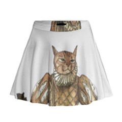 Cat Musician 01 Mini Flare Skirt