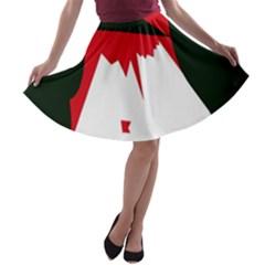 Volcano  A-line Skater Skirt