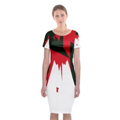 Volcano  Classic Short Sleeve Midi Dress