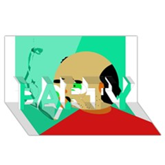 Smoker  PARTY 3D Greeting Card (8x4)