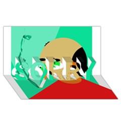 Smoker  SORRY 3D Greeting Card (8x4)