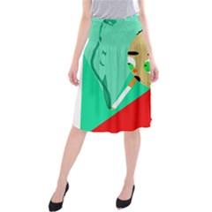 Smoker  Midi Beach Skirt