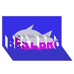 Big Fish Best Bro 3d Greeting Card (8x4)