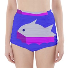 Big fish High-Waisted Bikini Bottoms
