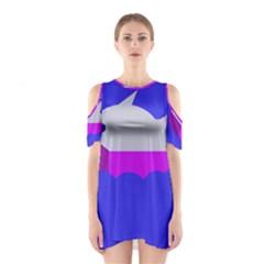 Big Fish Cutout Shoulder Dress