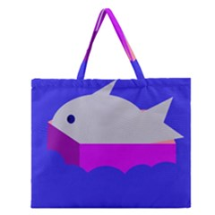 Big Fish Zipper Large Tote Bag