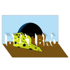 Cheese  Best Bro 3d Greeting Card (8x4)