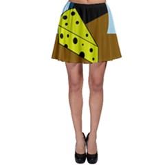 Cheese  Skater Skirt