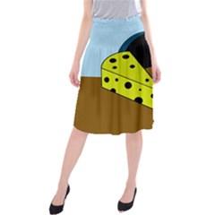 Cheese  Midi Beach Skirt