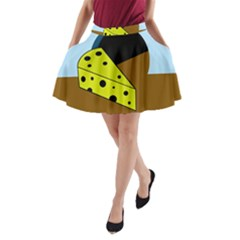 Cheese  A-Line Pocket Skirt