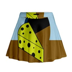 Cheese  Mini Flare Skirt