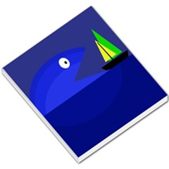 Blue monster fish Small Memo Pads