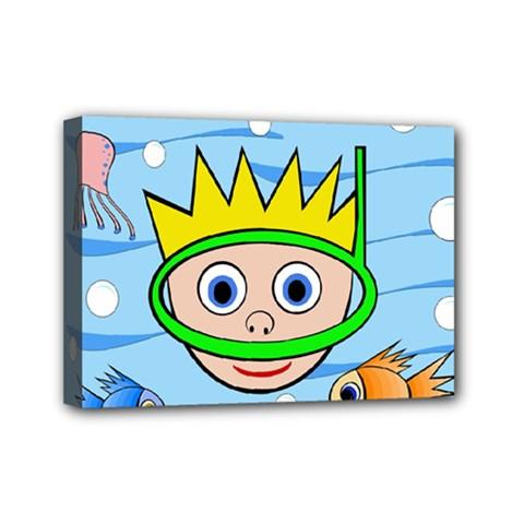 Diver Mini Canvas 7  x 5