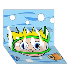 Diver BOY 3D Greeting Card (7x5)