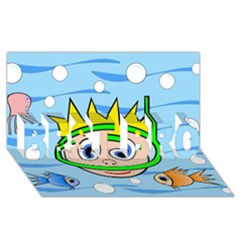 Diver BEST BRO 3D Greeting Card (8x4)