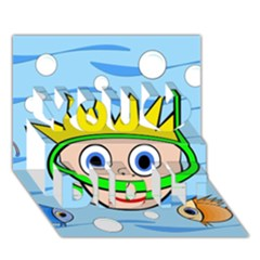 Diver You Did It 3D Greeting Card (7x5)