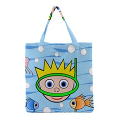 Diver Grocery Tote Bag