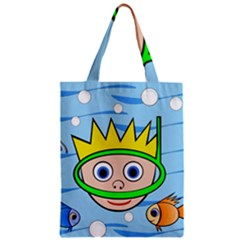 Diver Zipper Classic Tote Bag