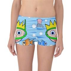 Diver Reversible Boyleg Bikini Bottoms