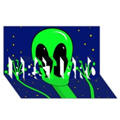 Alien  BEST BRO 3D Greeting Card (8x4)