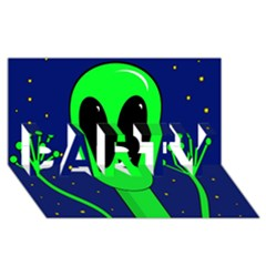 Alien  PARTY 3D Greeting Card (8x4)
