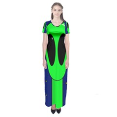 Alien  Short Sleeve Maxi Dress