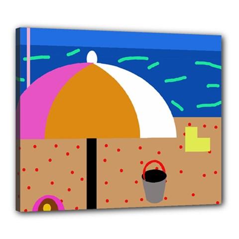 On the beach  Canvas 24  x 20