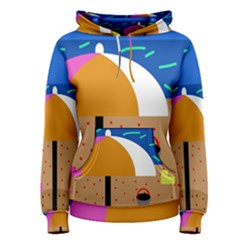 On the beach  Women s Pullover Hoodie