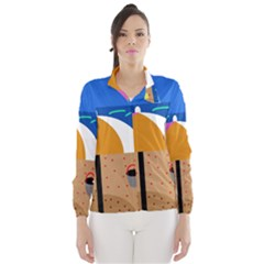 On the beach  Wind Breaker (Women)
