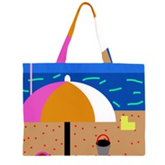 On the beach  Large Tote Bag