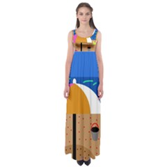 On The Beach  Empire Waist Maxi Dress