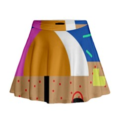 On The Beach  Mini Flare Skirt