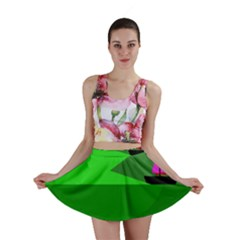 Green monster fish Mini Skirt