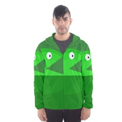 Green Monster Fish Hooded Wind Breaker (men)