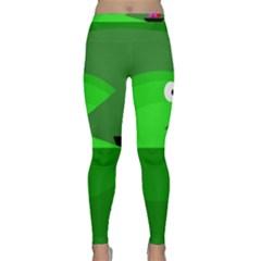 Green monster fish Yoga Leggings