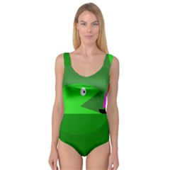 Green monster fish Princess Tank Leotard