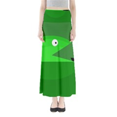 Green Monster Fish Maxi Skirts