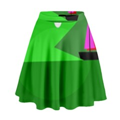 Green Monster Fish High Waist Skirt