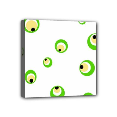 Green eyes Mini Canvas 4  x 4