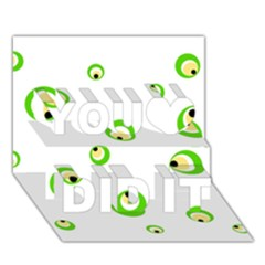Green eyes You Did It 3D Greeting Card (7x5)
