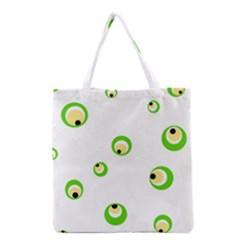 Green eyes Grocery Tote Bag